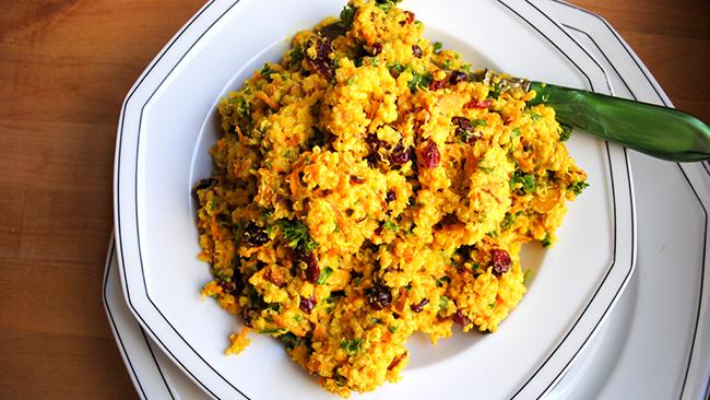 Receta de quinoa con curry
